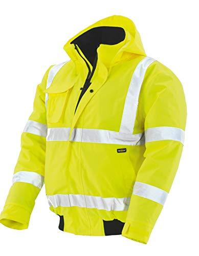 teXXor Warnschutz-Pilotenjacke Whistler wasserdichte, winddichte Arbeitsjacke, M, gelb, 4118