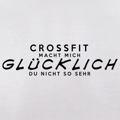 CrossFit macht mich glücklich - Damen T-Shirt - 14 Farben Weiß