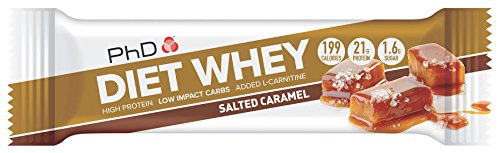 PHD Diet Whey Bar Salted Caramel, 12 x 65 g