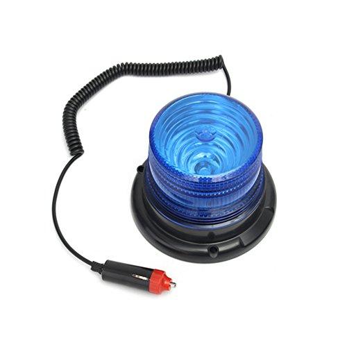 B-JOY Auto Blitzleuchten Rundumleuchte Blinkleuchte Blitz Warnleuchte Magnetfuß Gelb 12V/24V 15 Watt (Blau)