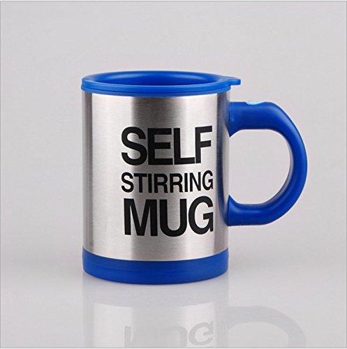 Miscelazione automatica coffee tea cup-tazza auto-mescolante, colore: nero
