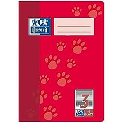 Oxford 100050408 - Cuaderno de ejercicios (15 unidades, con rayas dobles, 16 hojas, A5, 90 g/m²), color rojo