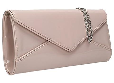 SwankySwans Perry Damen-Handtasche, Clutch, Briefumschlag-Stil, Lackleder -