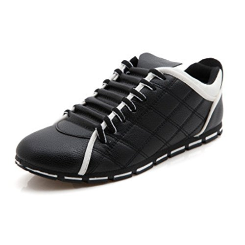 Men's High Quality Fashion Style Leather Casual Shoes Black