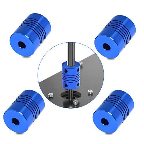 Usongshine 4 STÜCKE Flexible Kupplungen NEMA 17 Welle für RepRap 3D Drucker oder CNC Maschine (Blau,5mm bis 8mm) - 5-mm-welle