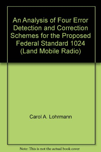 An Analysis of Four Error Detection and Correction...