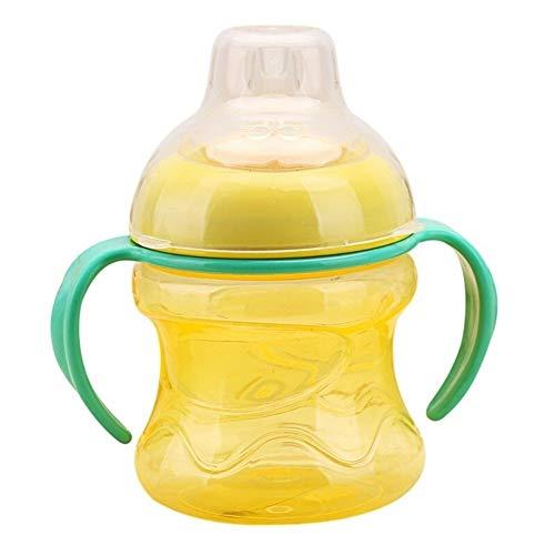 en-Schalen Für Baby-Wasser-Milchflasche-Baby-Saugflasche-Säuglingstraining Mit Griff-Schalen (Color : Yellow) ()
