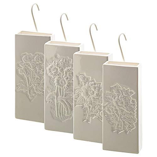 esto24 4er Set Luftbefeuchter Wasserverdunster aus Keramik je 300ml für Heizkörper Verdunster Verdampfer