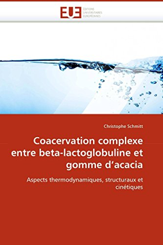 Coacervation complexe entre beta-lactoglobuline et gomme d''acacia par Christophe Schmitt