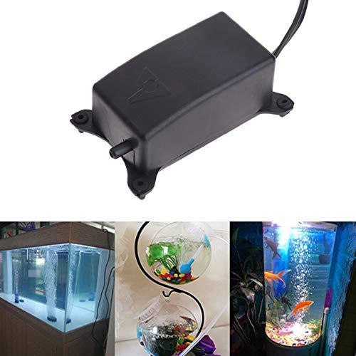 Comtervi Sauerstoffpumpe für Aquarium, Superleise Aquarium Luftpumpe 2W Leistungsstark Sauerstoffpumpe 1.2L/M Geeignet für Fischbecken und Die Nano Aquarien