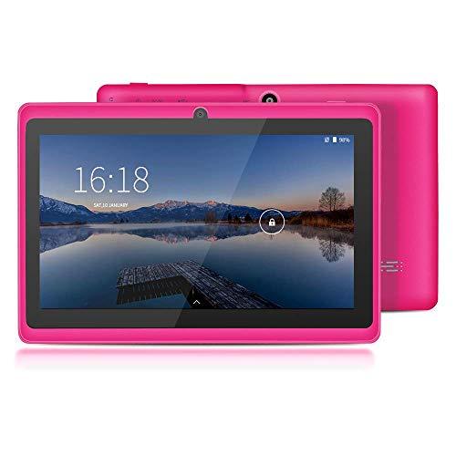 [2019 Upgrade] YUNTAB Q88 7-Zoll-Tablet-PC, 1 GB RAM + 8 GB ROM, Google Android 4.4, AllwinnerA33-Quad-Core-Cortex-A7 1,5 GHz, HD-Touchscreen, Dual-Kamera, WI-FI, Bluetooth (Rosa)