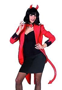 FIORI PAOLO Kit disfraz diavoletta, rojo S rojo