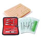 LYY Sistema médico de la Ayuda de enseñanza, Herida de la sutura Model + Equipo Paquete + Hilo de Rosca de la Aguja, Alta Piel de la simulación + Varios Ejercicios de la Herida, Reutilizables