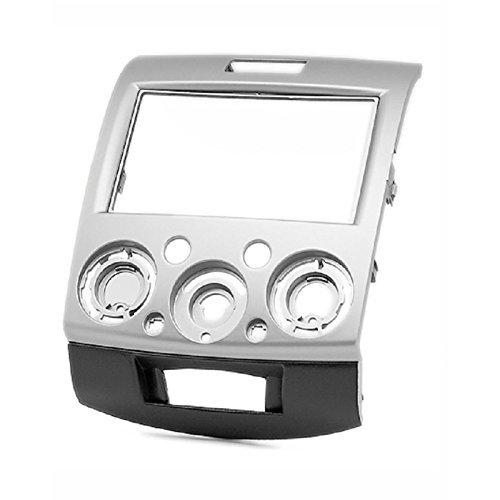 Carav 11-275 double DIN radio adaptateur stéréo DVD Dash Installation entourée de Trim Kit (Argent) Façade d'Trim Façade d'autoradio avec 173 * 98 mm et 178 * 102 mm