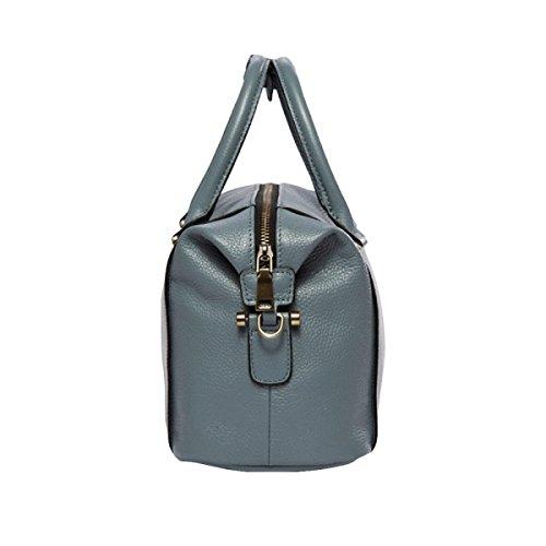 Leder Handtasche Messenger Bag Umhängetasche Handtasche Ledertasche Einfache Atmosphäre Lässige Mode Haar Purple