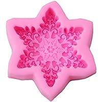 HENGSONG Rosa Schneeflocken Mould Silikon Form Kuchenform Fondant Schokolade Seife Form DIY Backen Formen Dekorieren
