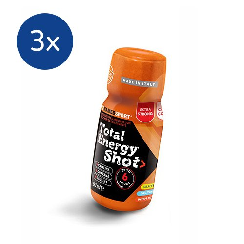 NAMEDSPORT 3x Total Energy Shot box da 25 shots gusto Arancio da 60 ml - 41j5eIR1xvL