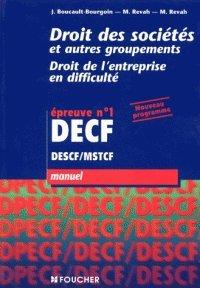 Droit des sociétés, DECF, manuel