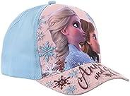 Gorra infantil de Frozen Frozen Disney Elsa y Anna azul y marino de 3 a 9 años (azul, cm, Numeric_52)