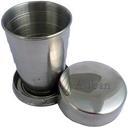 Verre en acier inoxydable, plié, personnalisé - nom engravé: Auban (Noms/Prénoms)