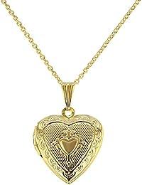 Medallón colgante para foto, en forma de corazón pequeño, 48,26 cm, recuerdo