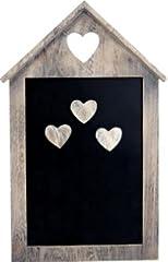 Idea Regalo - Sam's Stores Chic & Shabby Lavagna/Lavagnetta Magnetica, con 3magneti Cuore in Legno