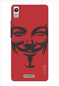 Noise V Red Printed Cover for Lava Pixel V1