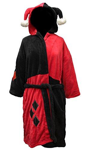 DC Comics Harley Quinn Damen Kostüm Fleece Bademantel
