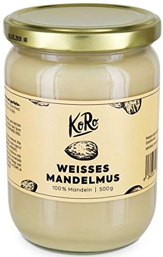 KoRo - Mandelmus Weiß 500 g - Nuss Creme Ohne Zucker Und Salz, Ohne Zusätze - Veganes Nussmus aus 100% Mandeln