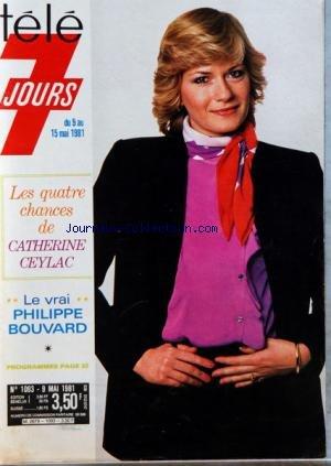 COUVERTURE ISOLEE DE TELE 7 JOURS [No 1093] du 09/05/1981 - CATHERINE CEYLAC - PHLIPPE BOUVARD