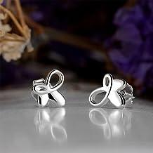 LDUDU® Pendientes de forma Mariposa Semental de Plata de ley 925 para mujer niña regalo de Cumpleaños Navidad San Valentin Color plata