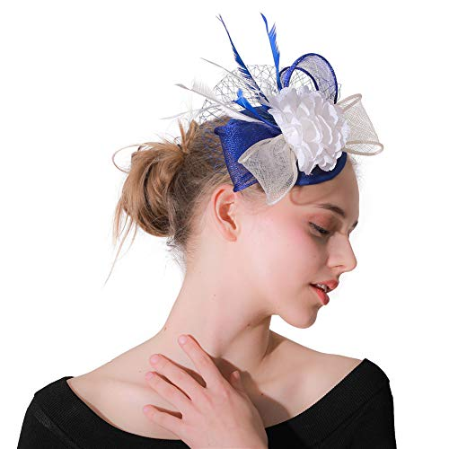 a108cb3e0349f Y.L Master Mariage Voile Bibi avec Voilette Plume Coiffure Beret Pince  Cheveux Mariée DéCoration des pour
