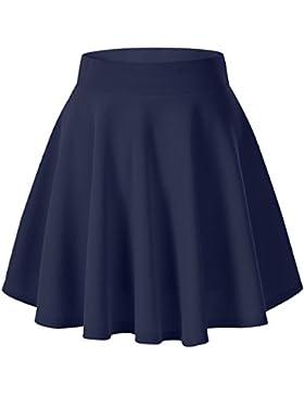 [Patrocinado]Urban GoCo Falda Mujer Elástica Plisada Básica Patinador Multifuncional Corto Falda