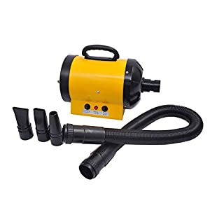 PawHut Dog Pet Grooming Hair Dryer Hairdryer Heater Blaster 2800W Yellow New 16