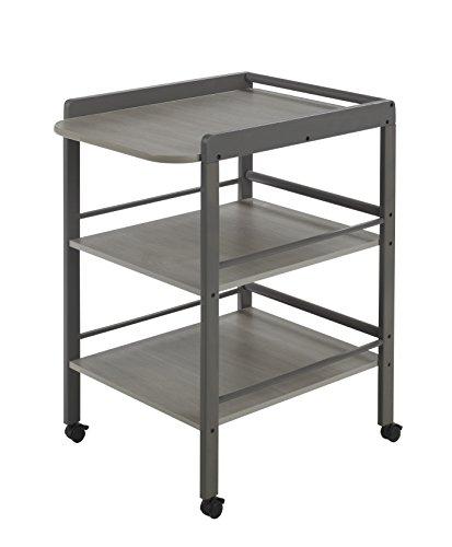 Geuther Table àLanger Clarissa grise - Plan à langer + 2 étagères