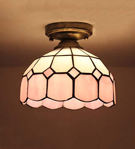 Modern Kreativ Glas Deckenleuchte - E27 Schlafzimmer Bad Beleuchtung Gang Balkon Flur Lampenschirm(Ohne Lichtquelle) D 20CM -