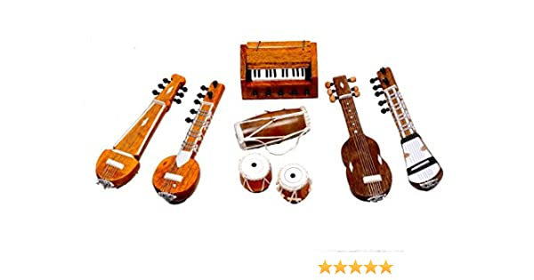 UNIV Handmade Miniature Musical Instruments, Decorative Showpieces Set  (Brown)