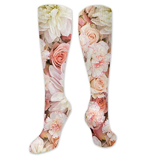 Kostüm Medical Children's - CVDGSAD Men Women Boys Girls Petal Roses Blush Pink 3D Compression Socks(20-30 mmHg)- Medical Graduated Compression Stockings for Sports Running Nurses Diabetic Flight