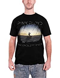 Pink Floyd Mens Black T Shirt With The Endless River Album New Official