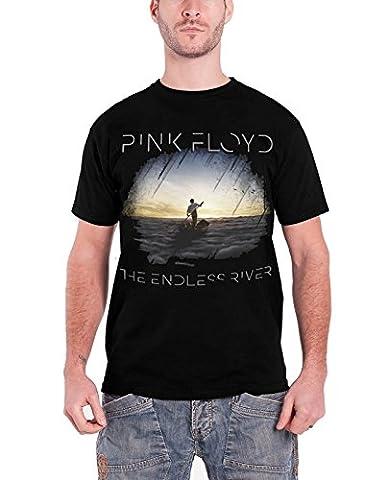 Pink Floyd The Endless River Album Cover T-shirt Noir Des Hommes Officielles