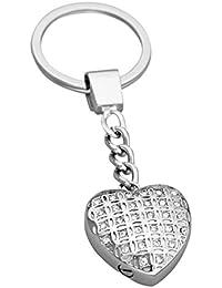 Llavero de urna con Corazón de Cristal de Amor al Tesoro, Recuerdo de Cenizas, Joyería de Cremación