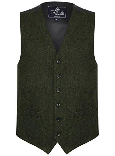 Herren Weste Grün Tweed Design (Größe XXL) Smith Weste