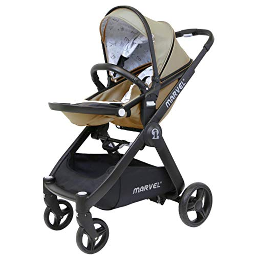 iSafe Marvel 2in1 Complete Pram System Pushchair and Carseat - Sandstone  iSafe