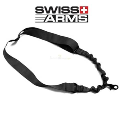 Swiss Arms Sangle 1 point élastique/c120 Noir