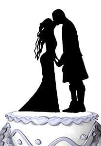 Meijiafei Scottish Wedding Silhouette Cake Topper First ...