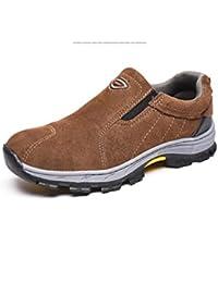Adong Zapatos de Seguridad de Trabajo Hombres de Acero Dedo del pie construcción Botas Mujeres Trabajo
