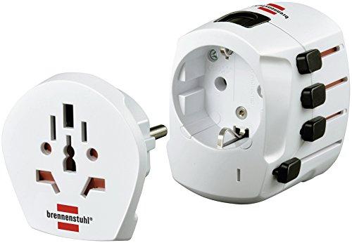 Brennenstuhl Weltreisestecker/-adapter BWA+ weiß, 1508490