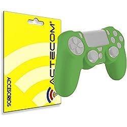 ACTECOM Funda Carcasa Silicona Mando Sony PS4 Playstation 4 Verde