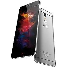 Umidigi - Max smartphone libre 4g lte android 6.0 (pantalla 5.5'', 4000mah, helio p10 octa core, lector de huella, cámara de 13 mp/8 mp, 3 gb ram/16 gb rom, dual sim,wifi,gps) (gris)