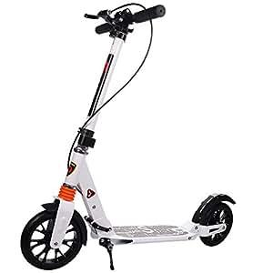 gymax scooter pliable r glable 2 roues trottinette sport de stunt d 39 une de charge de 100 kg. Black Bedroom Furniture Sets. Home Design Ideas
